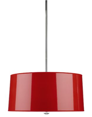 Penelope Pendant - Red/Polished Nickel