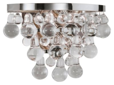 Bling Wall Sconce - Polished Nickel/Steel Glass Drops