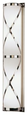 Chase 4-Light Double Shade Bath Sconce - Polished Nickel