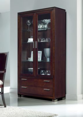 Terra Display Cabinet with Drawers