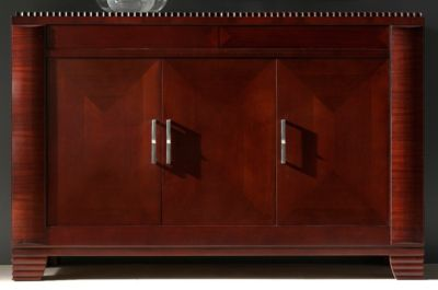 Deco Buffet - Dark Walnut/Almond
