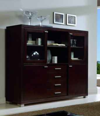 Terra Low Breakfront China Cabinet