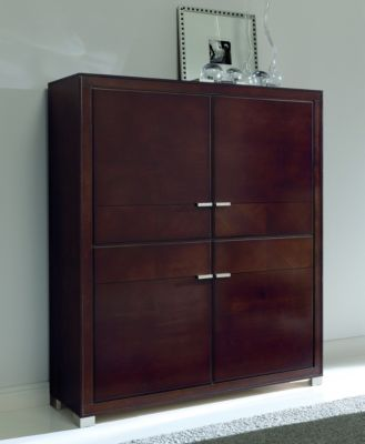 Terra Bar Unit with Wood Doors