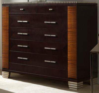 Deco Dresser - Dark Walnut/Almond