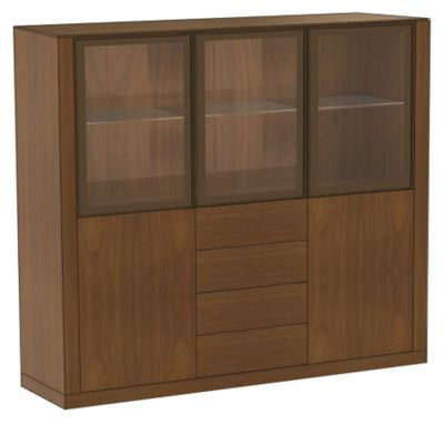 Ados Display Cabinet with 3-Glass Doors