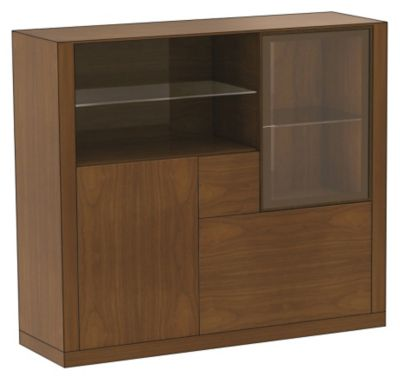 Ados Occasional Cabinet with 4-Glass Shelves