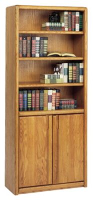 Contemporary Office Bookcase with Lower Doors