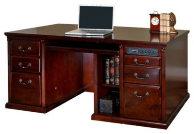 Huntington Club Double-Pedestal Computer Desk