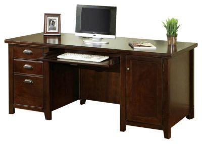 Tribeca Loft Double-Pedestal Computer Desk