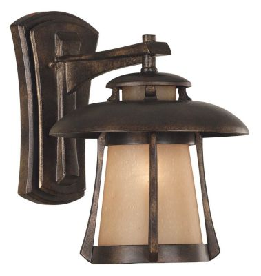 Laguna 1-Light Outdoor Wall Lantern - Golden Bronze