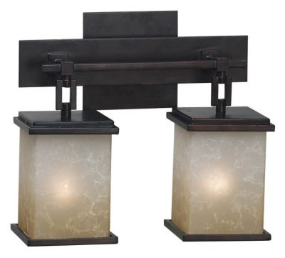 Plateau 2-Light Vanity  - Oil Rubbed Bronze