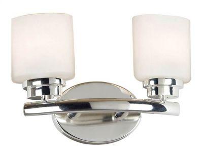 Bow 2-Light Vanity - Polished Nickel