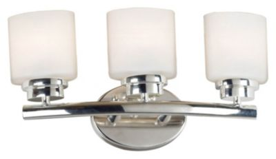 Bow 3-Light Vanity - Polished Nickel
