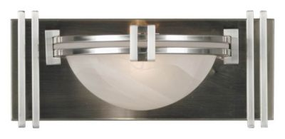 Lumen 1-Light Bath/Wall Sconce - Brushed Steel