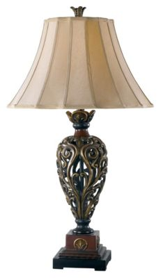 Iron Lace 33'' Table Lamp - Golden Ruby