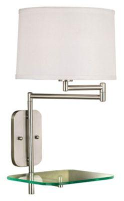 Tabula 1-Light Swing-Arm Wall Lamp - Brushed Steel