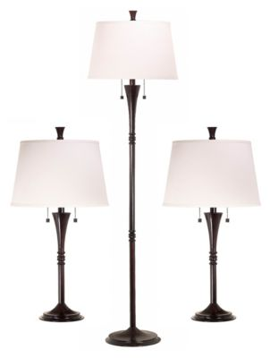 Park Avenue 3-Pack Table/Floor Lamps - Oil Rubbed Bronze