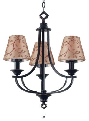 Belmont 3-Light Outdoor Chandelier - Oil Rubbed Bronze