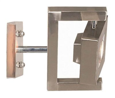 Geometry 1-Light Wall Sconce - Brushed Steel
