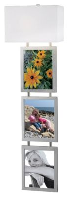 Studio 1-Light Wallchiere with 3 Photo Frames - Brushed Steel