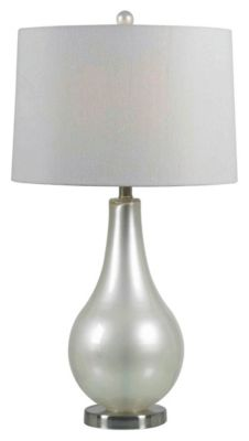 Teardrop Table Lamp - Pearlized White
