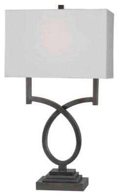 Tau 30'' Table Lamp - Weathered Steel