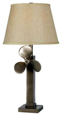 Prop 29'' Table Lamp - Weathered Steel