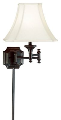 Wentworth 1-Light Swing-Arm Wall Lamp - Burnished Bronze