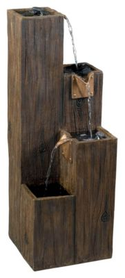 Timber Indoor-Outdoor Floor Fountain