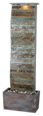 Curvature Indoor/Outdoor Floor Fountain - Natural Slate