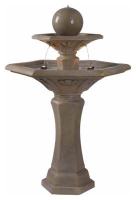 Provence Outdoor Floor Fountain - Dark Travertine