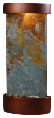 Midstream Indoor Table/Wall Fountain - Natural Slate with Copper Accents