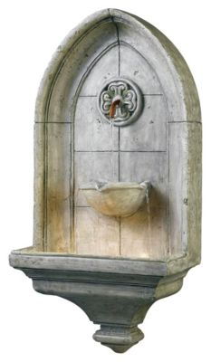 Canterbury Indoor/Outdoor Wall Fountain - Cement