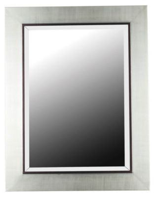 Dolores Wall Mirror - Silver with Black Trim Accent