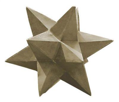 Sandstone Indoor/Outdoor Dimensional Star Decorative Ornament - Sandstone