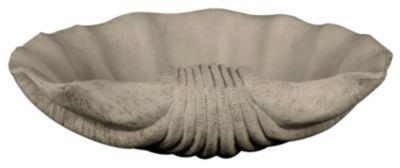 Sandstone Indoor/Outdoor Scallop Shell Bowl Decorative Ornament - Sandstone
