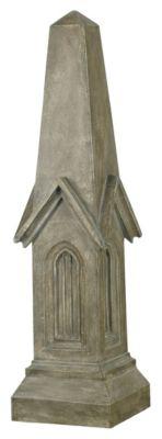 Tuscan Earth Indoor/Outdoor Chapel Obelisk Decorative Ornament - Tuscan Earth