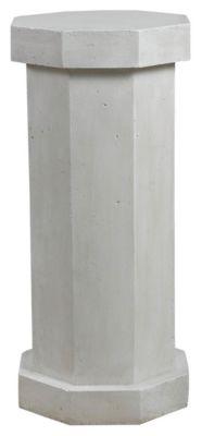 Roman White Indoor/Outdoor Facet Pedestal - White