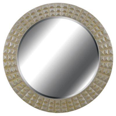 Bezel Wall Mirror - Silver/Gold Gilt
