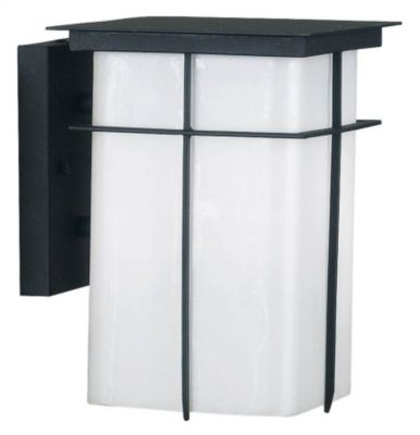 Mesa 1-Light Medium Outdoor Wall Lantern - Textured Black