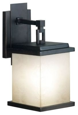 Plateau 1-Light Small Outdoor Wall Lantern - Oil Rubbed Bronze