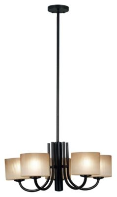 Matrielle 5-Light Convertible Chandelier - Oil Rubbed Bronze