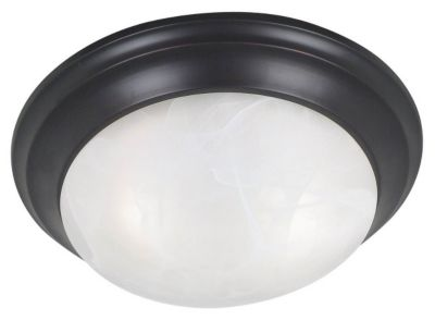 Dickens 2-Light Flush Mount - Oil Rubbed Bronze