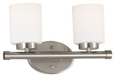 Mezzanine 2-Light Vanity - Brushed Steel