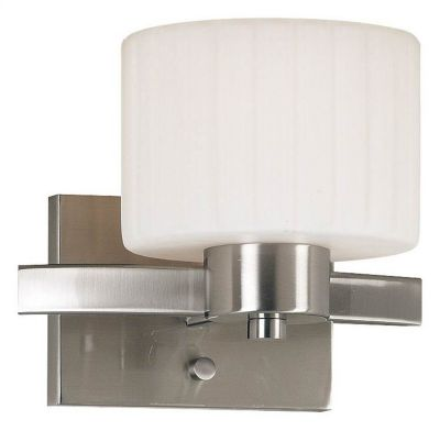 Legacy 1-Light Wall Sconce - Brushed Steel