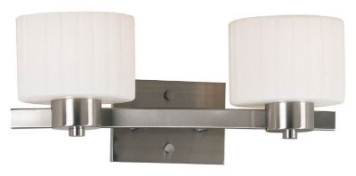 Legacy 2-Light Vanity - Brushed Steel