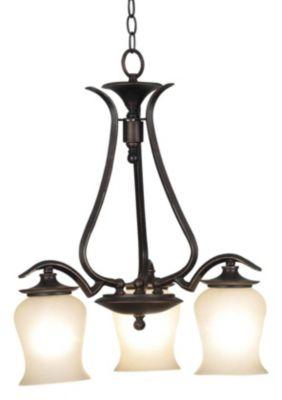 Bienville 3-Light Down Chandelier - Oil Rubbed Bronze