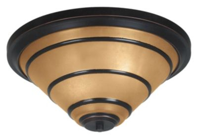 Wright 2-Light Flush Mount - Oil Rubbed Bronze