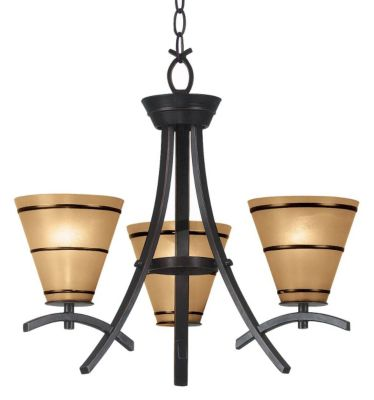 Wright 3-Light Chandelier - Oil Rubbed Bronze