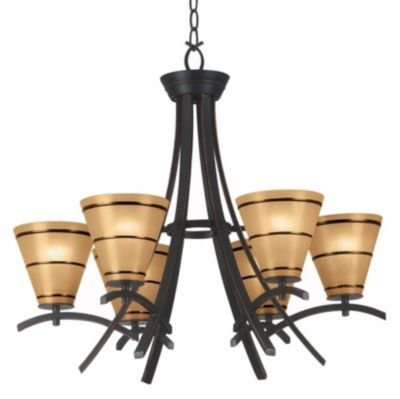 Wright 6 Light Chandelier